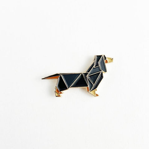 Dachshund Pin by FoldIT Creations