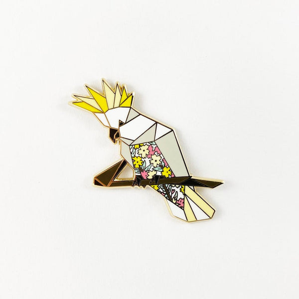 Cockatoo Pin by FoldIT Creations
