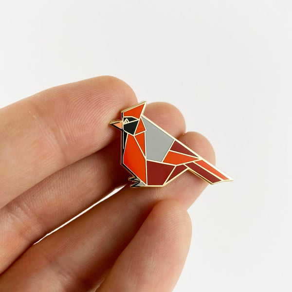 Cardinal Pin by FoldIT Creations