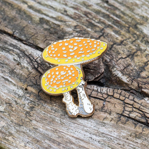 Fly Agaric Mushroom Pin by FoldIT Creations