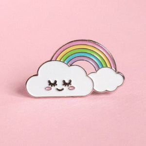 Happy Cloud Pin by Glitter Bones Boutique