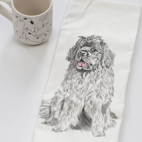 Newfoundland Dog Tea Towel