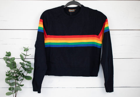 Rainbow Cropped Jumper by Run and Fly