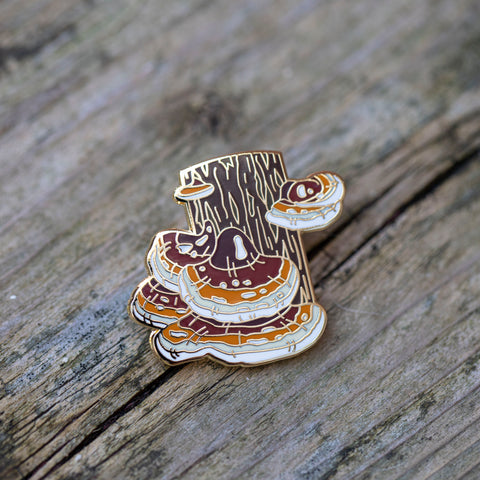Reishi Mushroom Pin by FoldIT Creations