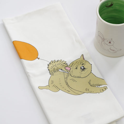 Dog Balloon Tea Towel