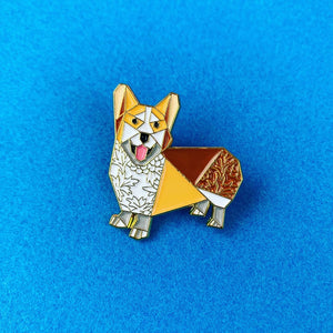 Corgi Pin by FoldIT Creations