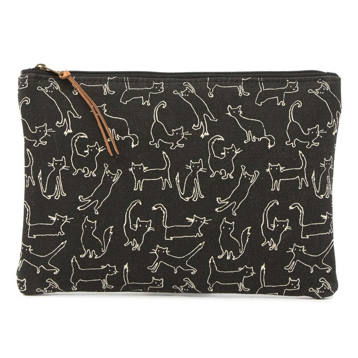 Funny Cat Medium Canvas Pouch by Fringe Studio