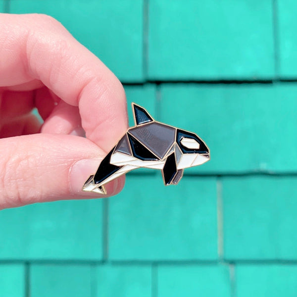 Orca Pin by FoldIT Creations