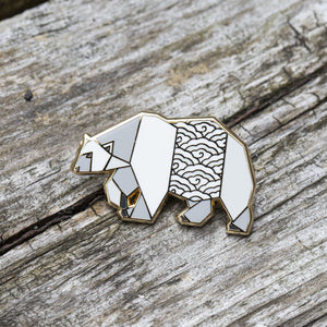 Polar Bear Pin by FoldIT Creations
