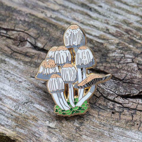 Mica Cap Mushroom Pin by FoldIT Creations