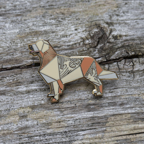 Golden Retriever Pin by FoldIT Creations