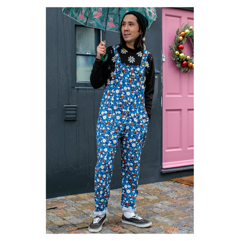 Ladybird Stretch Twill Dungarees by Run and Fly