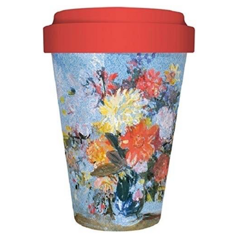 A Vase of Lilies and Dalias Travel Mug