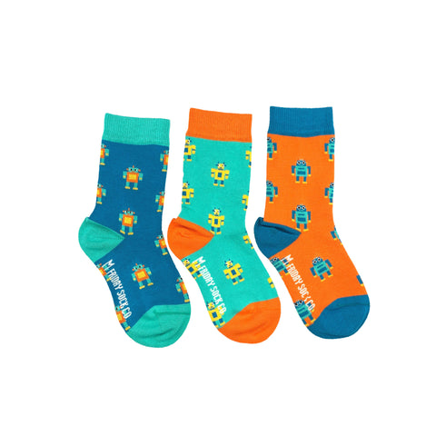 Kids Robot Socks by Friday Sock Co.