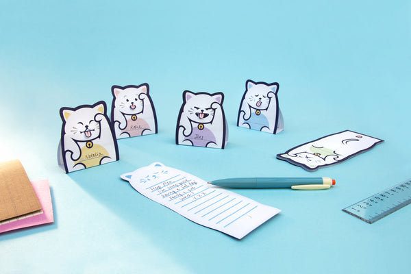 Lucky Cat Message Pads by Suck UK