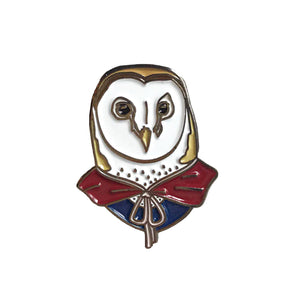 Barn Owl Pin by Ryan Berkley Illustration