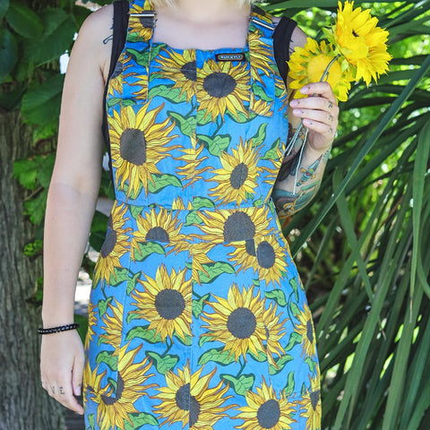 Sunflower Twill Pinafore by Run and Fly