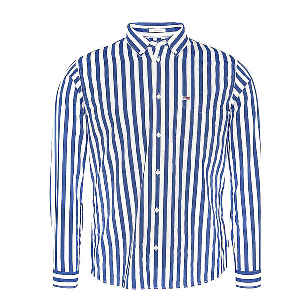 TJM STRIPE TWILL SHIRT CBK  BLACK IRIS