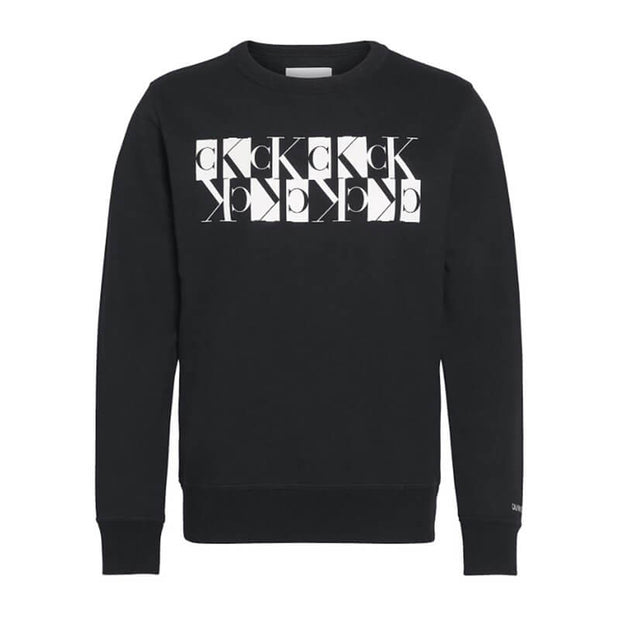 MIRRORED MONOGRAM CREW NECK BAE CK BL
