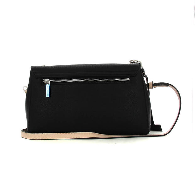 CROSSBODY W/FLAP0 BLACK
