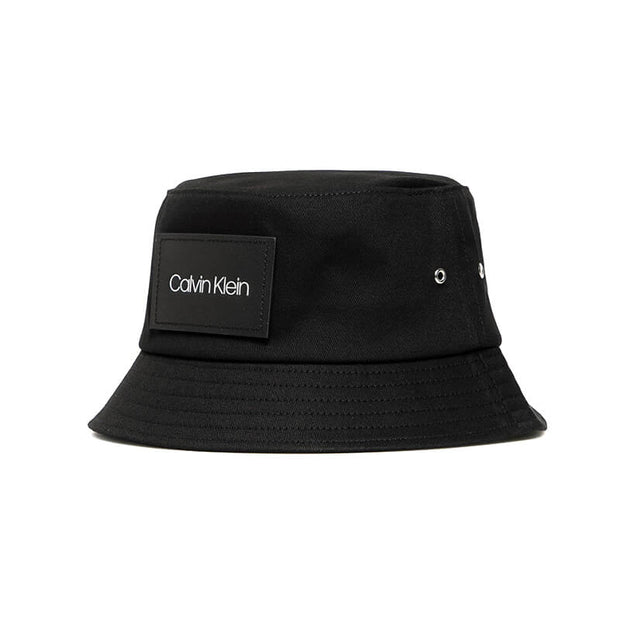 LEATHER PATCH BUCKET BAX CK BLACK