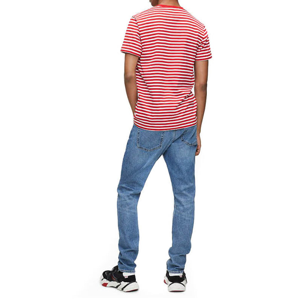 MINI STRIPE SLIM TEE XA7 FIERY RED