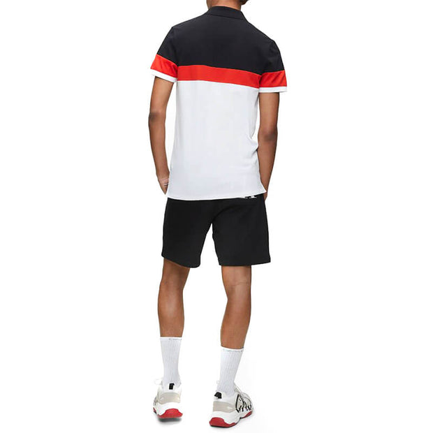COLOR BLOCK SLIM POLO YAF BRIGHT WHITE/R