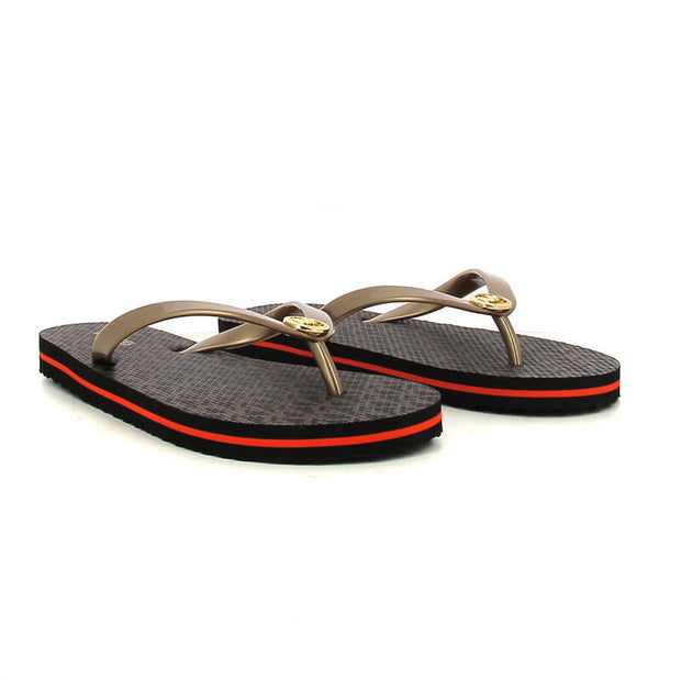 SAND MK FLIP FLOP STRIPE EVA BROWN