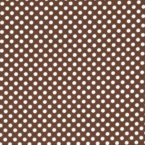 "TELA ""MINI DOTS BROWN/WHITE"""