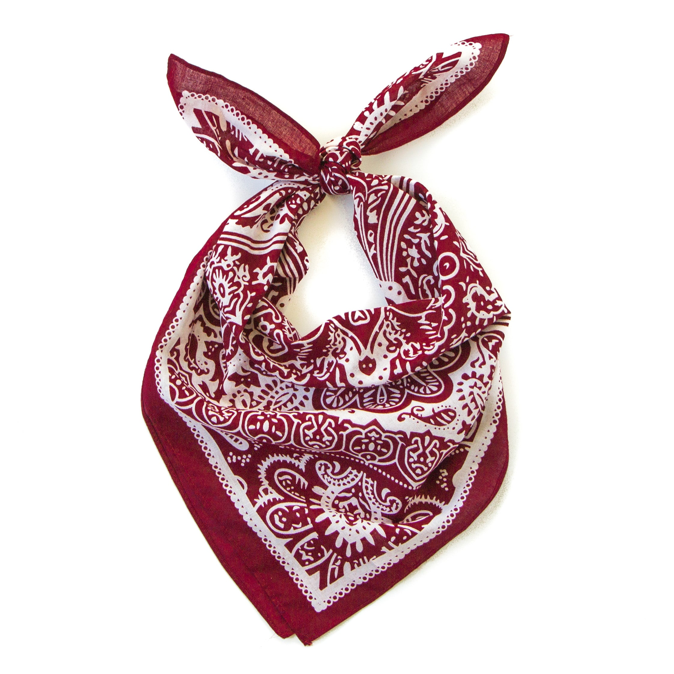 Austin Kerchief in Cranberry