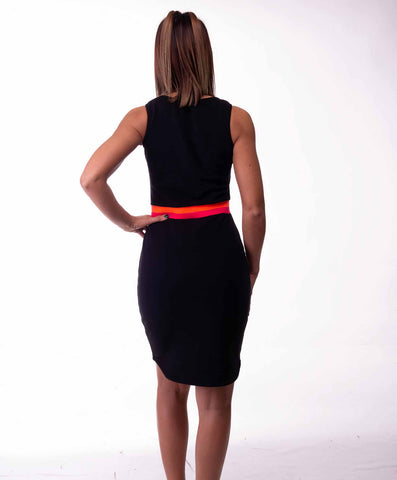 Dress split black