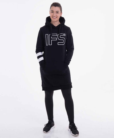 Ironfibre Squad black hoodie dress