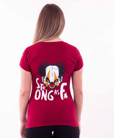 STRONG AS F T-SHIRT RED
