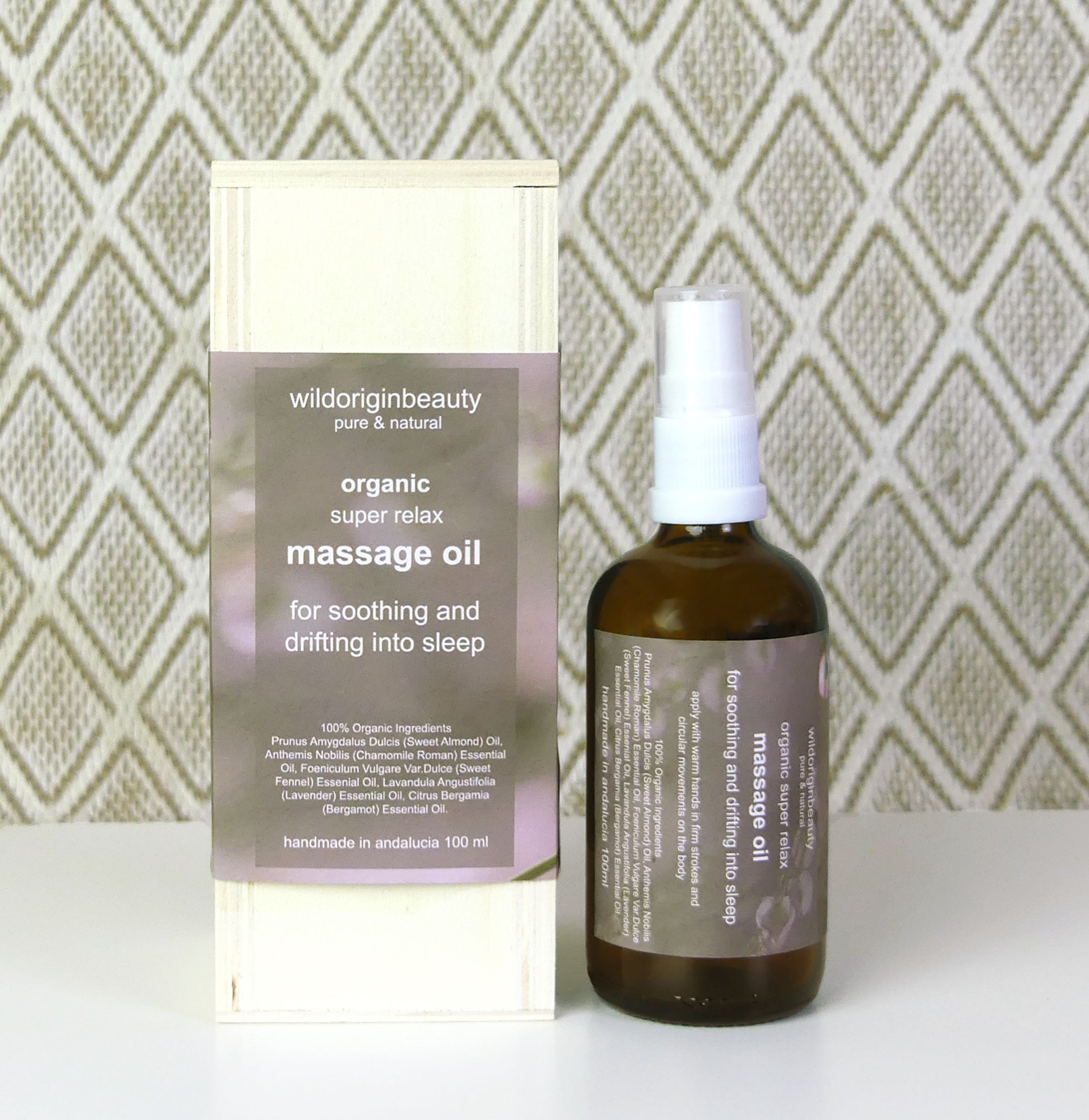 Organic Massage oil - for drifting into sleep