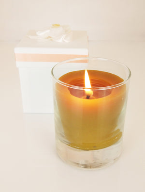 Pure beeswax essential oil candle