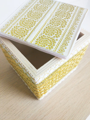 Gold Brocade Wooden Box