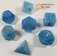 Laden Sie das Bild in den Galerie-Viewer, Faux Blue Jade Resin 7pc Dice Set