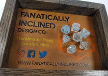 Load image into Gallery viewer, Blue Cyan White Swirl Resin 7pc Dice Set