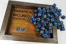 Laden Sie das Bild in den Galerie-Viewer, Blue Black Swirl Pip D6 Damage Dice