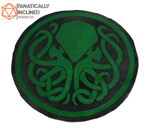 Cthulhu Leather Handmade Coasters