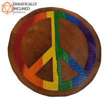 Load image into Gallery viewer, Rainbow Peace Leather Handmade Coasters