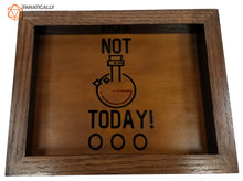Laden Sie das Bild in den Galerie-Viewer, Not Today! Handmade Oak Wood and Leather Dice Tray