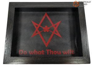 Thelamic Sigil Handmade Oak Wood and Leather Dice Tray