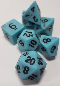 Blue Ancient Dragon Egg 7pc Dice Set