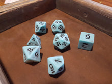 Load image into Gallery viewer, Blue Ancient Dragon Egg 7pc Dice Set
