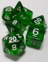 Load image into Gallery viewer, Forest Green Prismatic Orb 7pc Dice Set