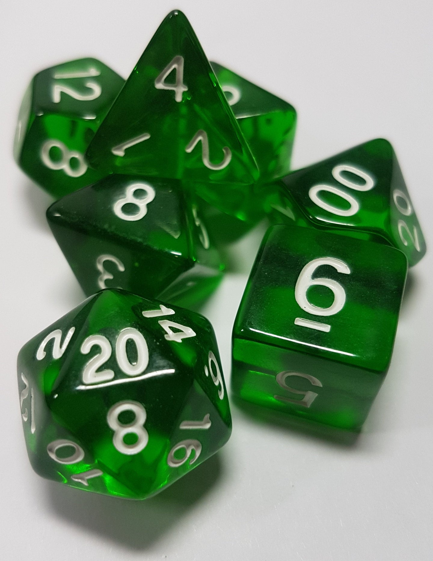 Forest Green Prismatic Orb 7pc Dice Set