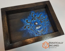 Load image into Gallery viewer, Blue Beholder Handmade Oak Wood and Leather Dice Tray