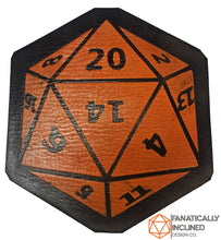 Load image into Gallery viewer, D20 Leather Handmade Coasters