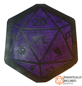 D20 Leather Handmade Coasters